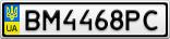 Номерной знак - BM4468PC