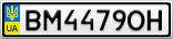 Номерной знак - BM4479OH