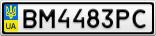 Номерной знак - BM4483PC