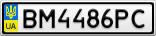 Номерной знак - BM4486PC