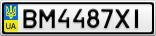 Номерной знак - BM4487XI
