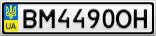 Номерной знак - BM4490OH