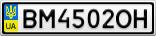 Номерной знак - BM4502OH