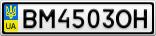 Номерной знак - BM4503OH
