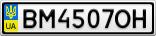 Номерной знак - BM4507OH