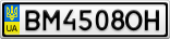 Номерной знак - BM4508OH
