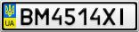 Номерной знак - BM4514XI