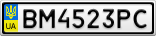 Номерной знак - BM4523PC