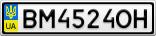 Номерной знак - BM4524OH