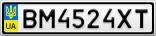 Номерной знак - BM4524XT