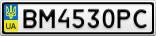 Номерной знак - BM4530PC