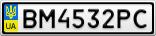 Номерной знак - BM4532PC