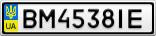 Номерной знак - BM4538IE