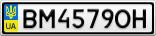 Номерной знак - BM4579OH