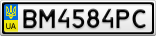 Номерной знак - BM4584PC