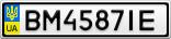 Номерной знак - BM4587IE