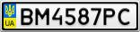 Номерной знак - BM4587PC