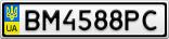 Номерной знак - BM4588PC