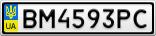 Номерной знак - BM4593PC