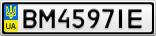 Номерной знак - BM4597IE