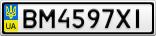Номерной знак - BM4597XI