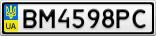 Номерной знак - BM4598PC