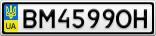Номерной знак - BM4599OH