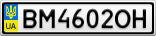 Номерной знак - BM4602OH