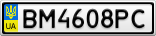 Номерной знак - BM4608PC