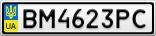 Номерной знак - BM4623PC