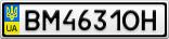 Номерной знак - BM4631OH