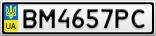 Номерной знак - BM4657PC