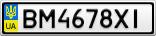 Номерной знак - BM4678XI