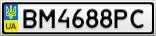 Номерной знак - BM4688PC