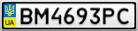 Номерной знак - BM4693PC
