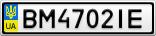 Номерной знак - BM4702IE