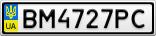 Номерной знак - BM4727PC