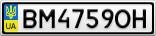 Номерной знак - BM4759OH