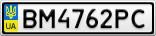 Номерной знак - BM4762PC