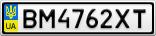 Номерной знак - BM4762XT