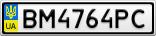 Номерной знак - BM4764PC