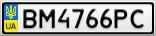 Номерной знак - BM4766PC