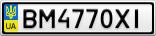 Номерной знак - BM4770XI