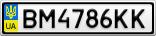 Номерной знак - BM4786KK