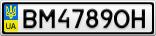 Номерной знак - BM4789OH