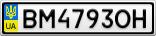 Номерной знак - BM4793OH