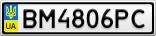 Номерной знак - BM4806PC