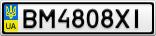 Номерной знак - BM4808XI