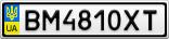 Номерной знак - BM4810XT