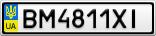 Номерной знак - BM4811XI